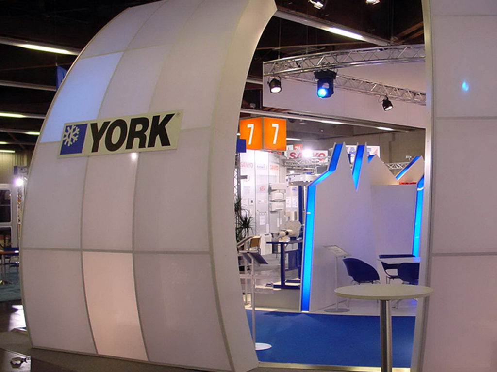 York Messestand Aussenansicht