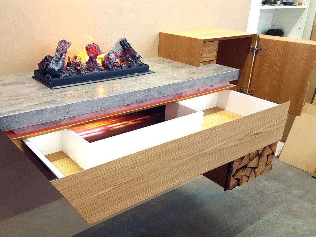 Möbelbau-Wandkamin